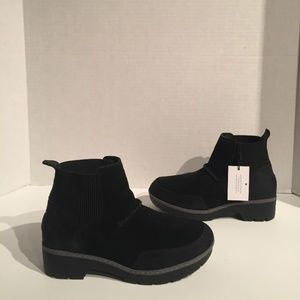 Ugg Womens Kress Ankle Black Suede Sherling Boots
